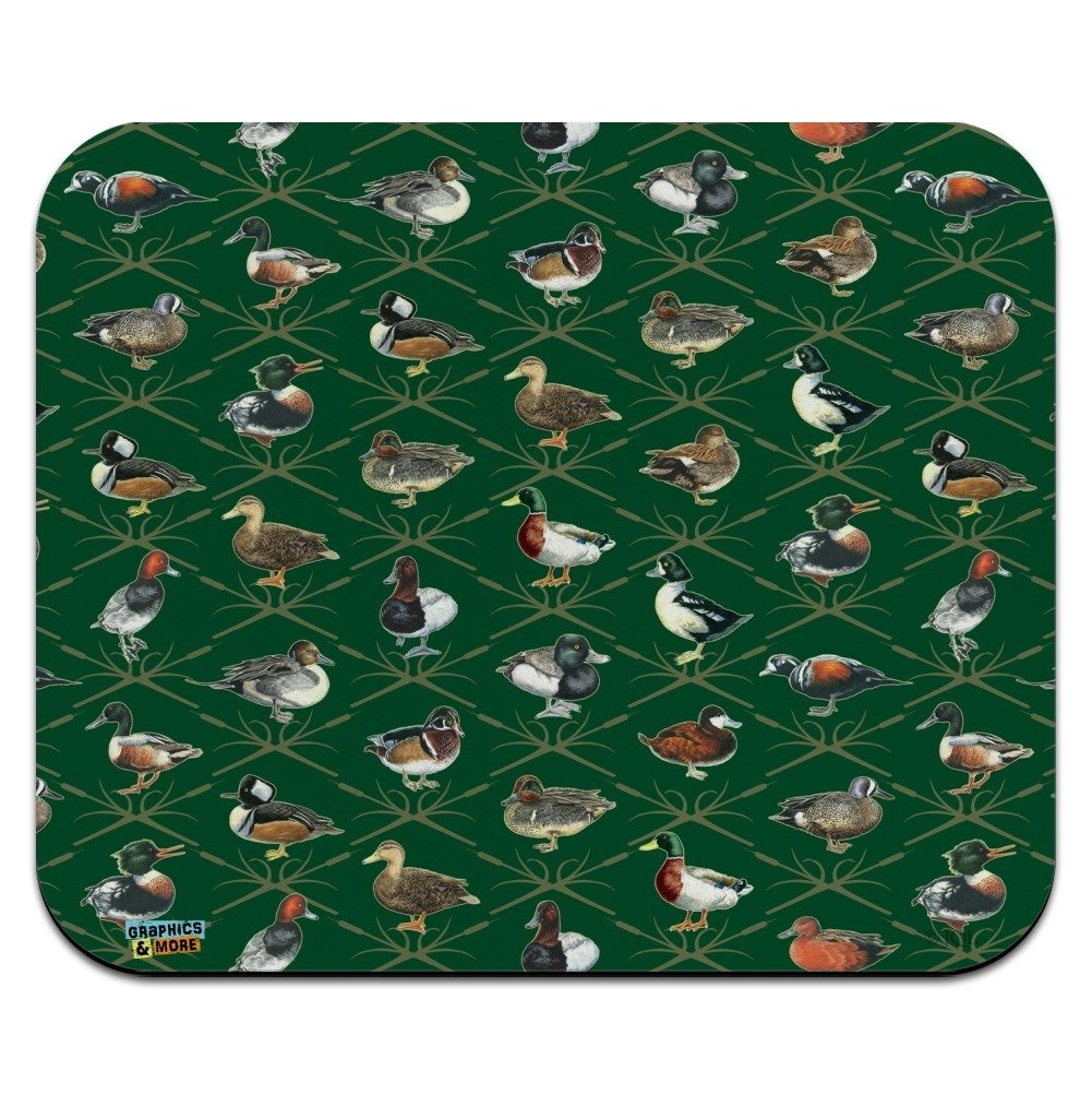 Amazon.com : Reeds and Ducks Pattern Mallard Wood Redhead Hooded Merganser  Low Profile Thin Mouse Pad Mousepad : Office Products