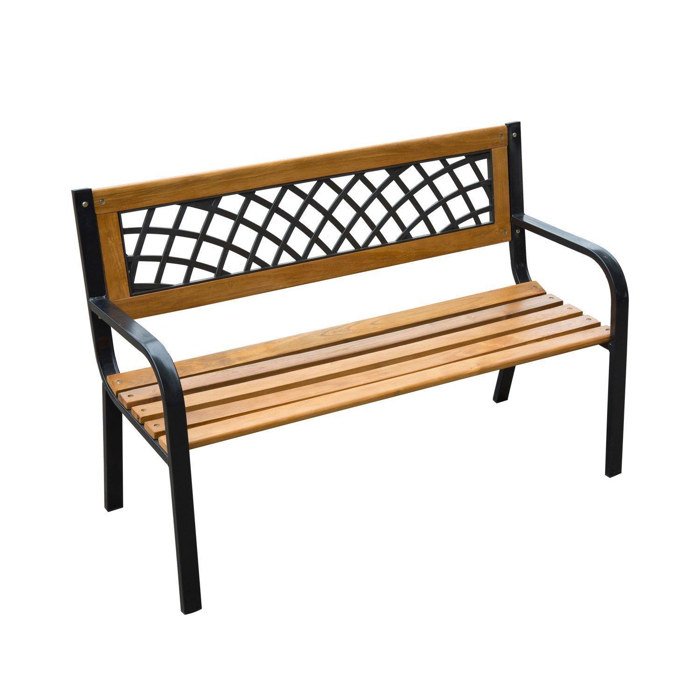 """Amazon Outsunny 47"""" Modern Outdoor Patio Garden Park Bench"""
