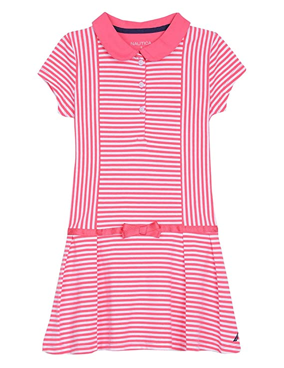 Vintage Style Children's Clothing: Girls, Boys, Baby, Toddler Nautica Girls Short Sleeve Polo Dress $24.99 AT vintagedancer.com