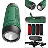 DMG iKare 4-in1 Outdoor Wireless Portable Bluetooth Speaker FM Radio with Powerful Torch 3000 mAh Powerbank and Travel Gear Holder (MultiColor)