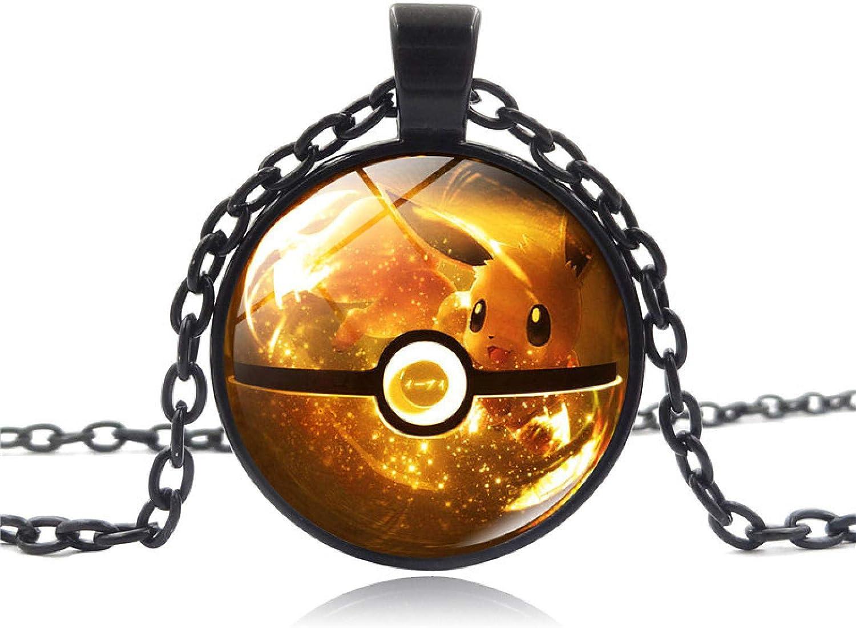 WYFLL Pokemon Pokemon - Collar de piedras preciosas, diseño de Pokémon