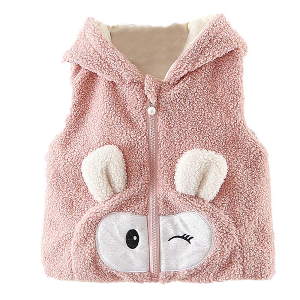 Suma-ma On Sale 6M-3T Kids Little Baby Boys Girls Fluffy BPA Free Hoodie Coat Vest Winter Fall Outwear Outfit Baby Clothing