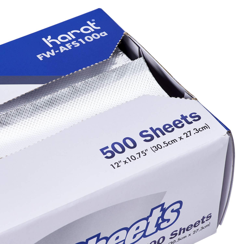 Karat FW-AFS100 12''x10.75'' Standard Aluminum Sheets (Case of 3000) by Karat (Image #3)