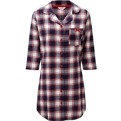 meilleur service edae4 047ed Cameo - Chemise de nuit pour femmes en flanelle et manches 3/4