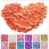 TtS 100pcs-1000pcs Silk Rose Petals Flower Confetti Wedding Flowers Engagement Party Decoration