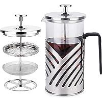 Cafetera de prensa francesa, Kitchenexus 304 de acero inoxidable para cafetera y tetera, prensa de café de vidrio…