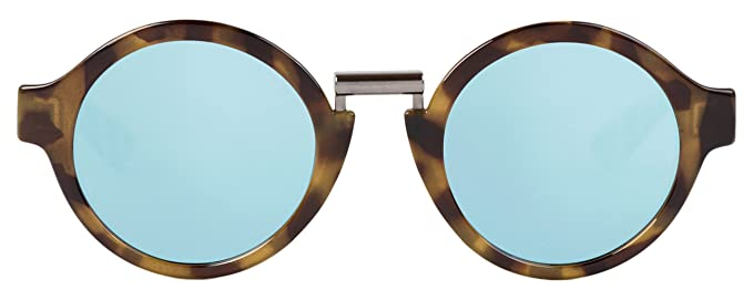 MR.BOHO, High-Contrast tortoise hackney with sky blue lenses