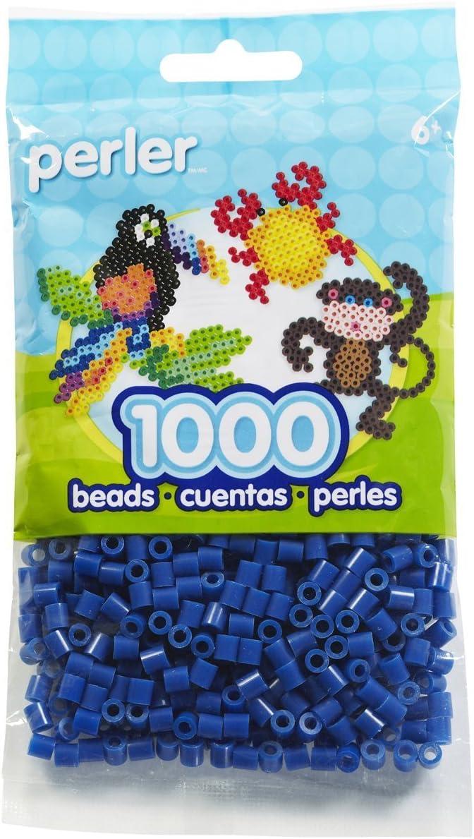 AMERICAN FLAG Perler Beads White//Red//Dark Blue.