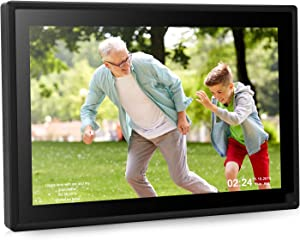 Dhwazz Digital Photo Frame, 10 Inch WiFi No Subscription Fee 16GB IPS HD Electronic Picture Frames with LCD Touch Screen, Share Moments via Email, APP, Facebook, Twitter, Support Video and Music