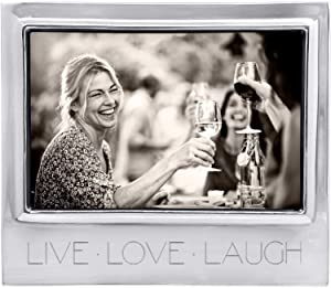 MARIPOSA Engraved Picture Frame, Signature 4x6, Live Love Laugh