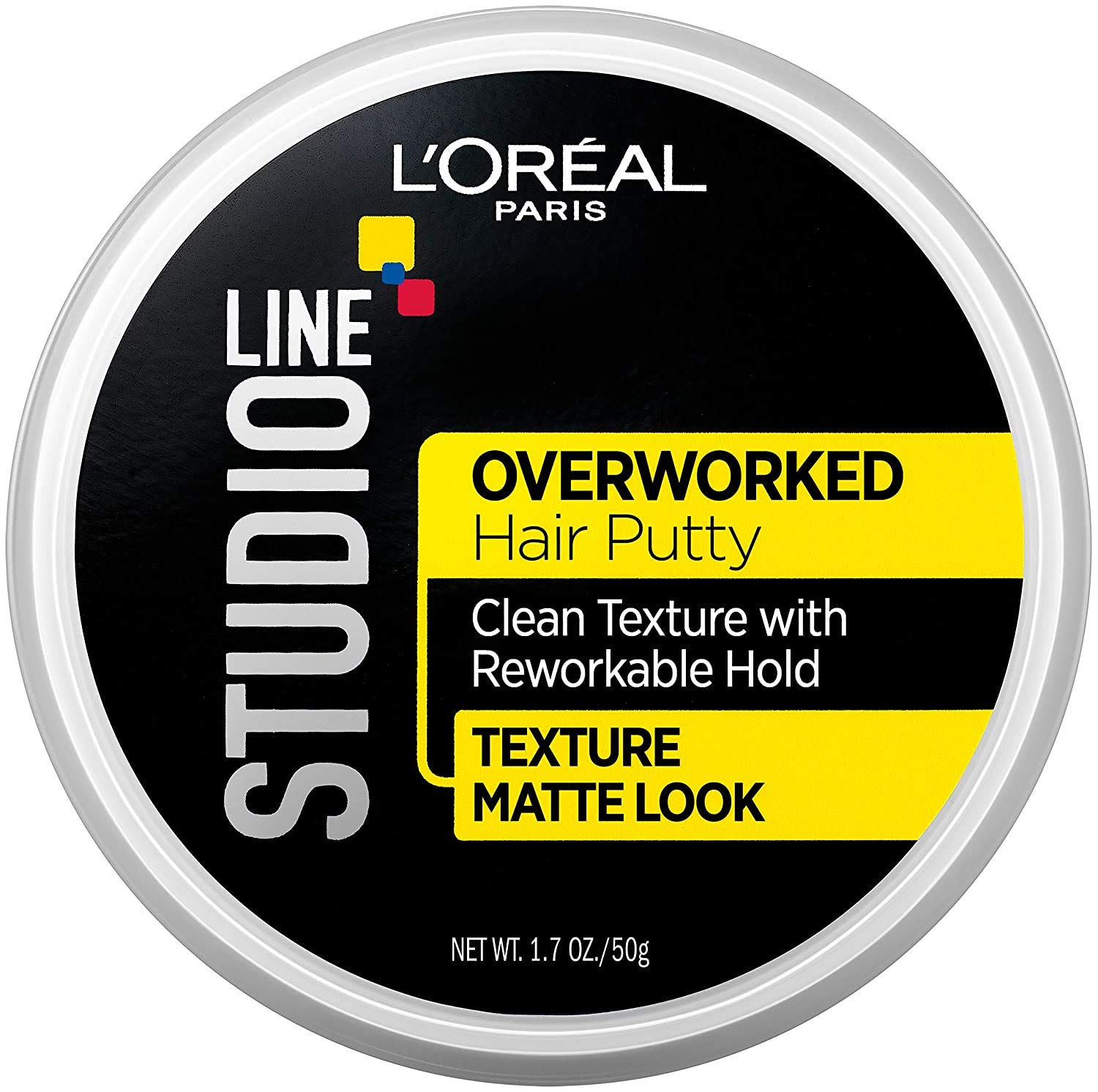 L'Oreal Paris Studio Line Overworked Hair Putty, 1.7 oz.: Beauty
