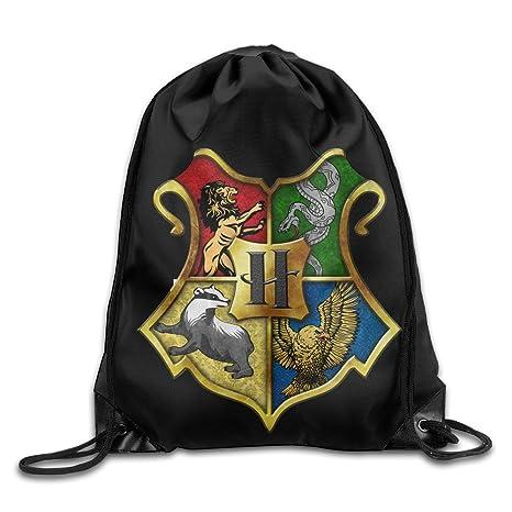 Cordón mochila bolsa Harry Potter Hogwarts Logo, Blanco ...