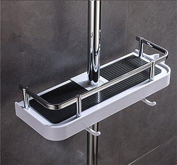 YunNasi Höhenverstellbar Badezimmer Duschablage Zum Hängen Mit 2 Haken Kein  Bohren An Der Wand Montiert Geeignet