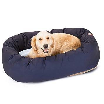 Marvelous Majestic Pet Poly Cotton Sherpa Bagel Dog Bed Creativecarmelina Interior Chair Design Creativecarmelinacom