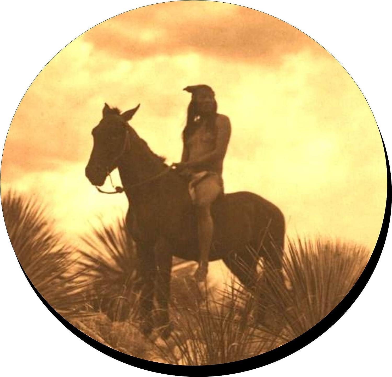 4コースターのセットBackingのコルクコースターApache Scout Native American Indians   B078Y9FB9F