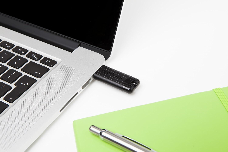 Verbatim 64GB USB 3.0 Pinstripe Retractable USB Flash Drive