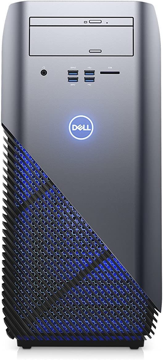 2018 Newest Flagship Dell Inspiron 5675 Premium Gaming VR Ready Desktop Computer (AMD Quad-Core Ryzen 5 1400 up to 3.4 GHz, 16GB DDR4 RAM, 128GB SSD + 1TB HDD, AMD Radeon RX 570 4GB, DVD, Windows 10)
