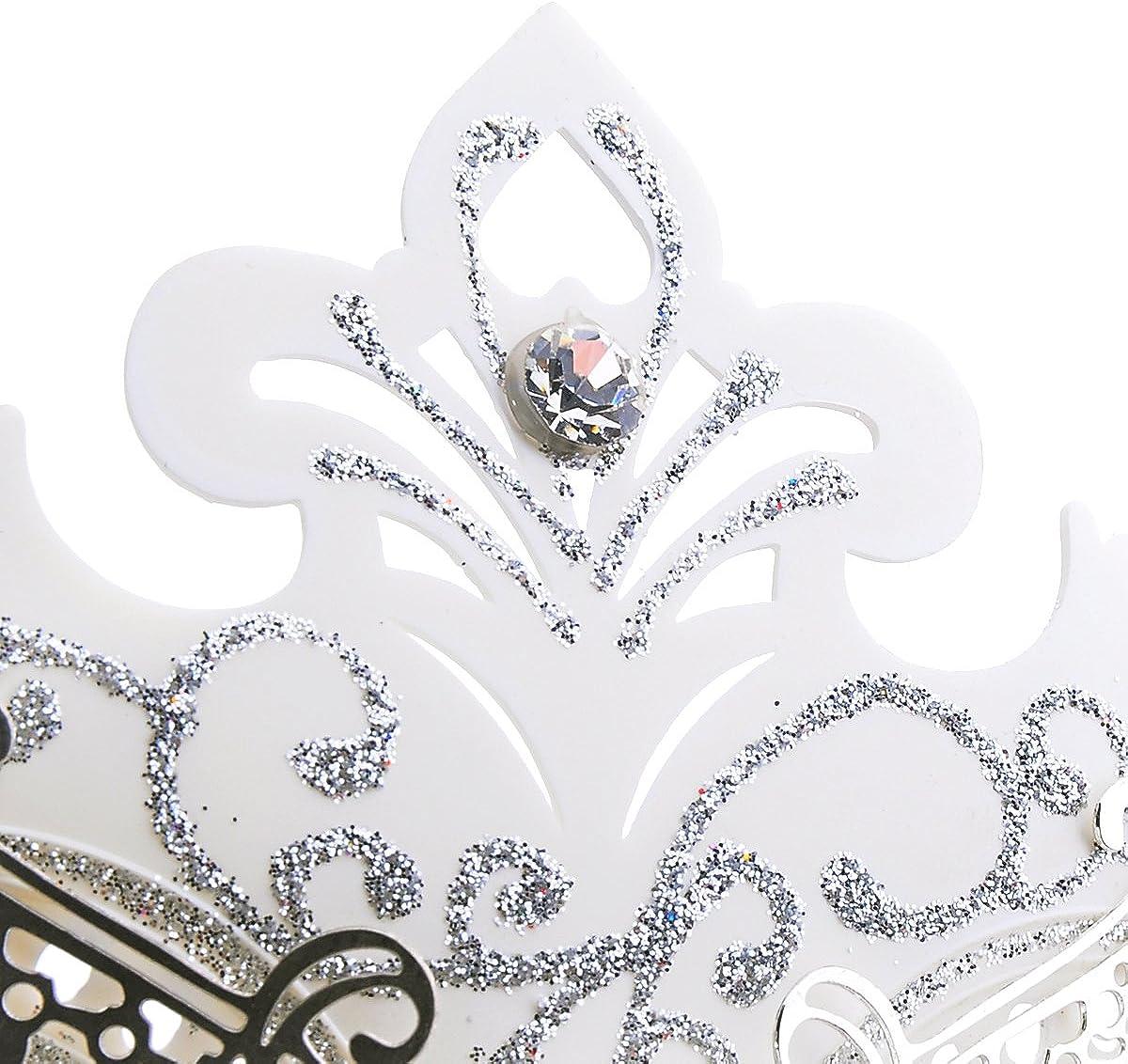 Coxeer Masquerade Mask on Stick Halloween Mask Metal Laser Cut Venetian Mask