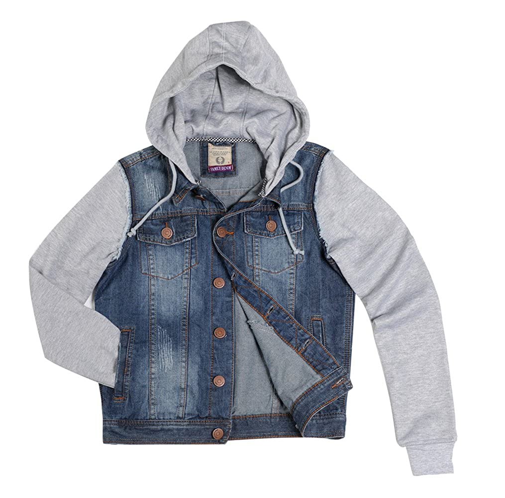 Dolcevida Men's Casual Rugged Wear Hooded Denim Jacket