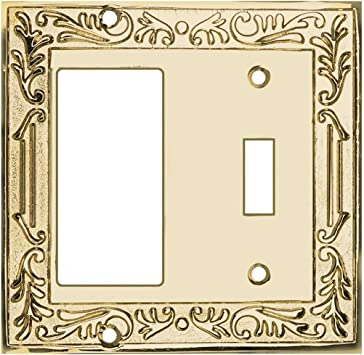 Victorian Switch Plate Single Toggle PVD Solid Brass Renovators Supply Renovator/'s Supply