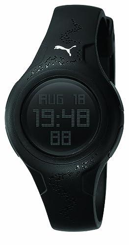 Puma PU910452001 - Reloj Digital de Cuarzo para Mujer con Correa de Caucho, Color Negro: Puma: Amazon.es: Relojes