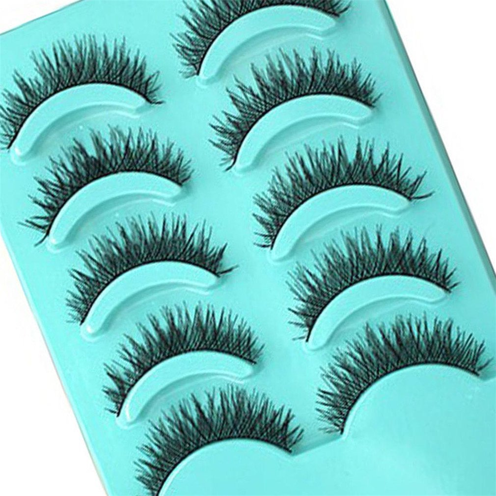 5fed923d3d8 Amazon.com : 1Set Natural Long Black False Eyelashes Fake Eye Lashes Makeup  Extension Tools GR : Beauty