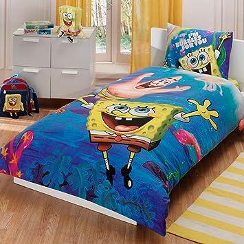 Disney Spongebob Underwater Kid S Twin Duvet Quilt Cover Set Single Twin Size Kids Bedding