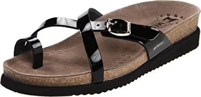 c114388acf5 Amazon.com   Mephisto Women's Hera Flip Flop, Black Patent, 5 M US ...