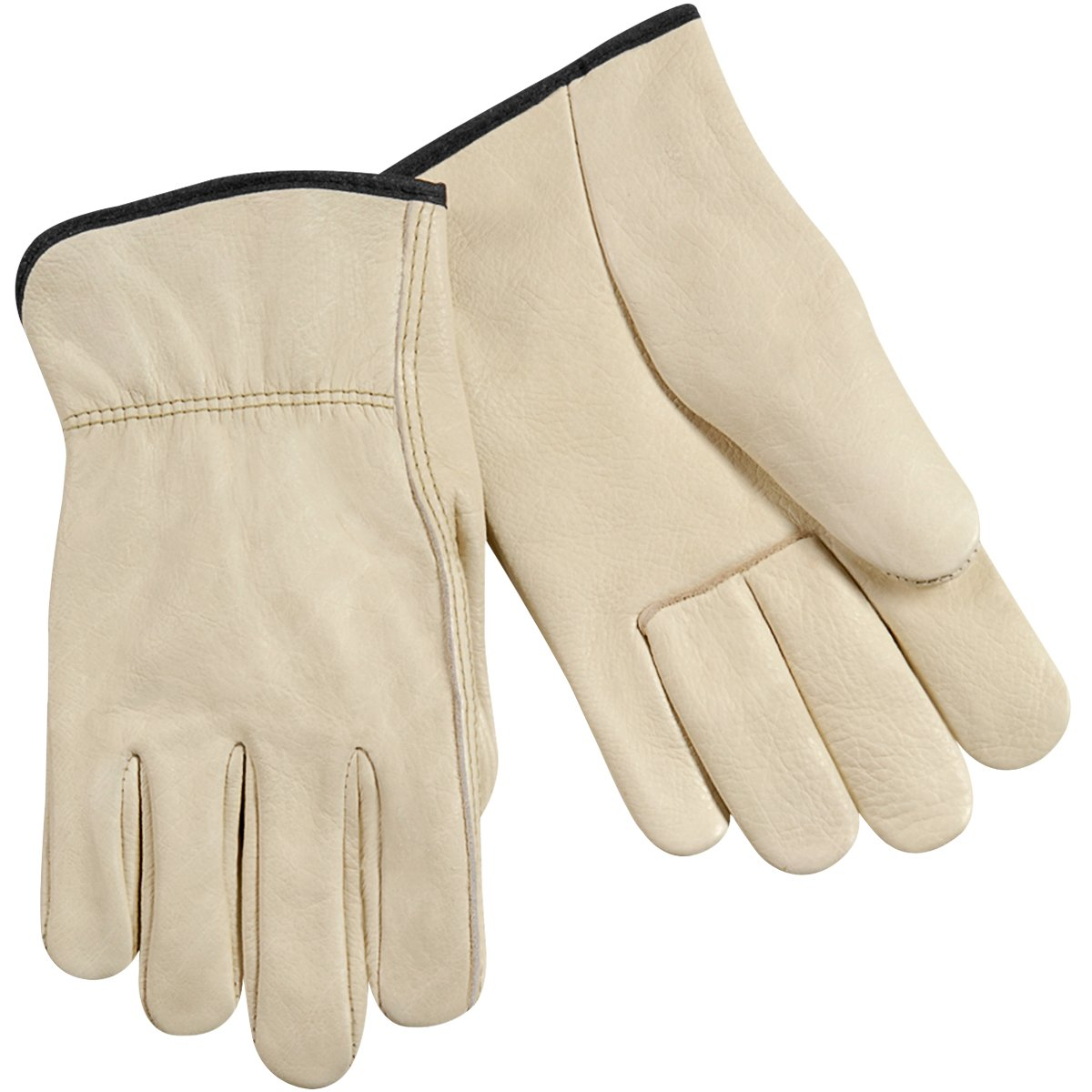 Steiner 0281-L Drivers Gloves, Individual Grain Cowhide Unlined Straight Thumb Shirred Wrist, Large (12-Pack)