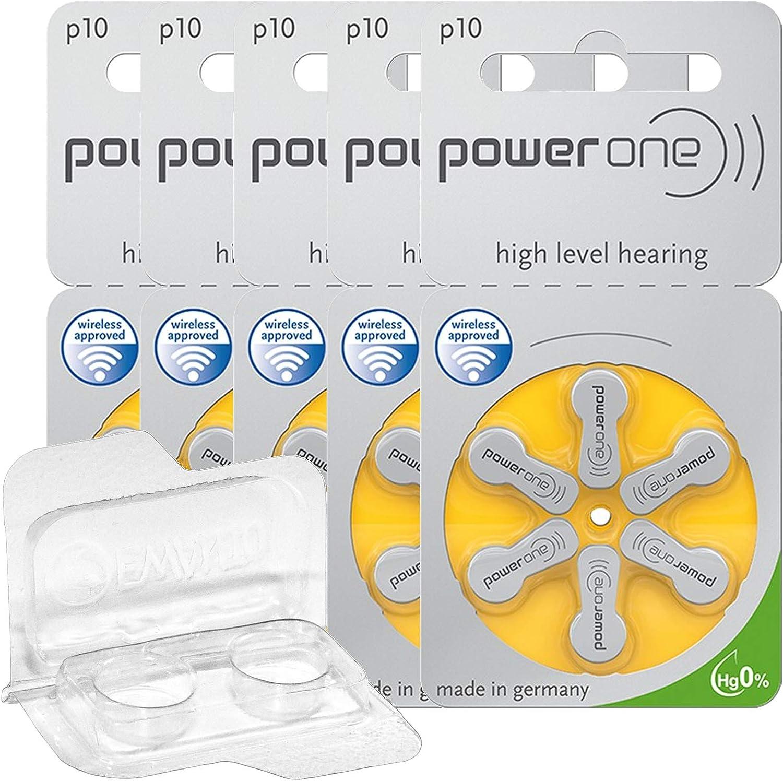 30x 60x 120x Power One Hörgerätebatterien Aufbewahrungsbox Für 2 Hörgerätebatterien 10 13 312 675 Batteriebox Für 2 Knopfzellen 30 Batterien 5x 6er Blister Gelb 10 Drogerie Körperpflege