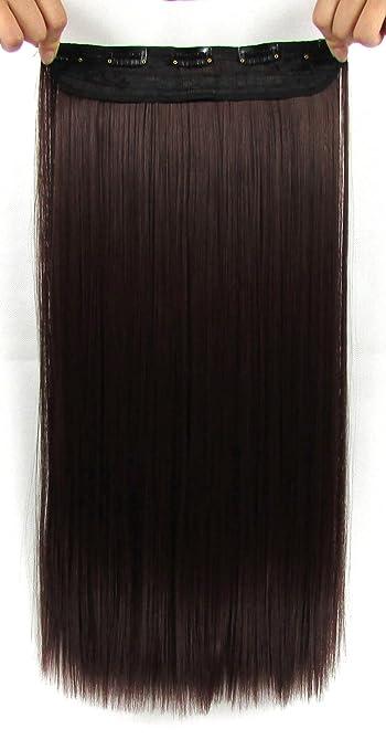 Amazon beaute galleria 22 inches clip in synthetic hair beaute galleria 22 inches clip in synthetic hair extensions straight dark brown pmusecretfo Image collections