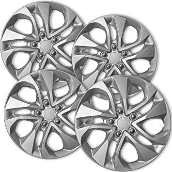 Amazon.com: OxGord Hub-caps for 14-15 Honda Civic (Pack of 4) Wheel Covers 16 inch Snap On Silver: Automotive