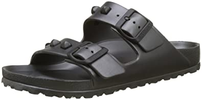d66cf6a8974 Birkenstock Women s Arizona EVA Studded Buckle Sandal  Anthracite-Anthracite-3.5