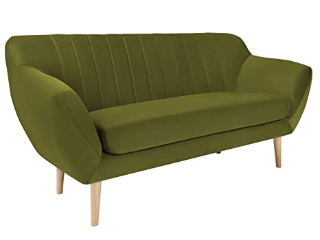 Mazzini Sofas sofá, CERDEÑA, 2 plazas, Verde Botella, 158 x ...