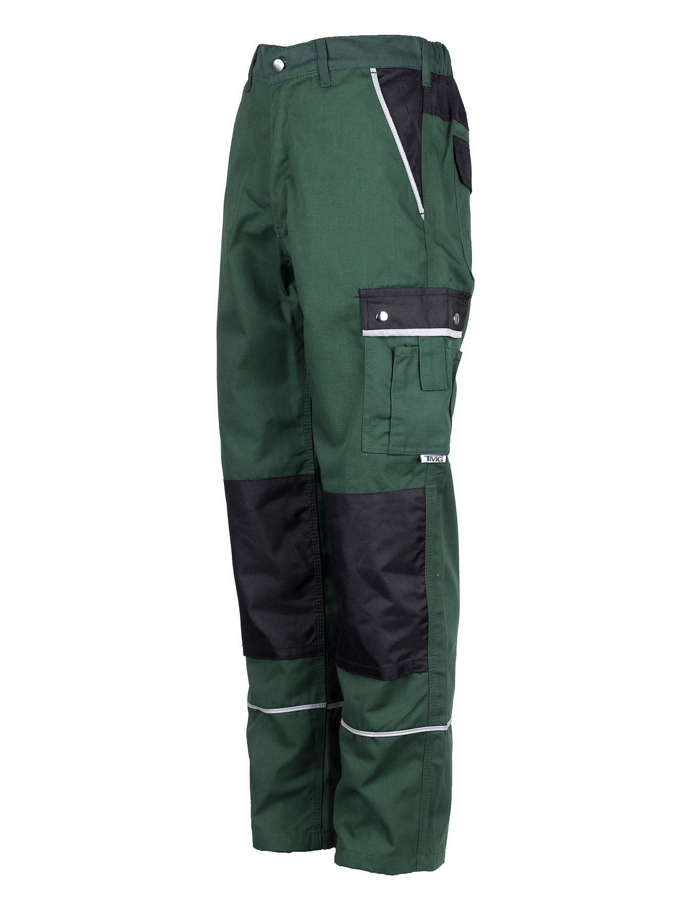 TMG Heavy Duty Cargo Work Trousers with Knee Pads Pockets 60 Green