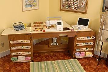 Good Arrow Cabinet 98700 Bertha Sewing Cabinet, Oak