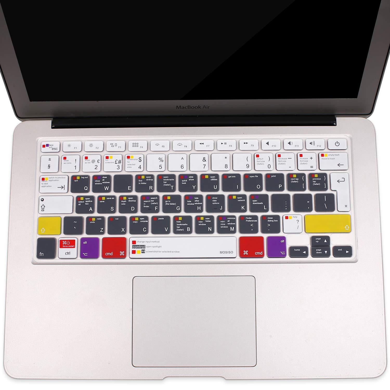 con//out Display Retina,2015//Versione Precedente A1369//A1466 MOSISO Copertura Tastiera Compatibile con MacBook PRO 13 Pollic//15 Pollici ,Mix Ombre Blu 2010-2017 MacBook Air 13 Pollici
