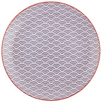 Tokyo Design Studio Starwave Dinner Plate - Small Wave - Purple/Red at Amara