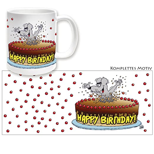 Uli Stein Becher Happy Birthday Tasse Geburtstag Amazon De Kuche
