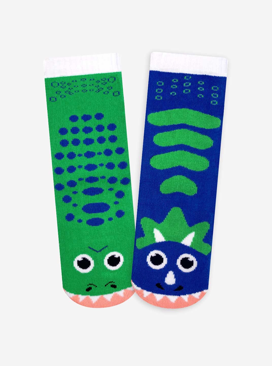 Lion and Zebra, T-Rex and Triceratops, Polar Bear and Penguin - Toddler Sock Set - Mighty Mates Mismatched Friends 3-Pack by Pals Socks (Image #5)