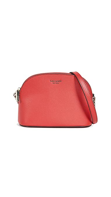 401b6182094b Amazon.com: Kate Spade New York Women's Sylvia Small Dome Crossbody Bag,  Hot Chili, Red, One Size: Shoes