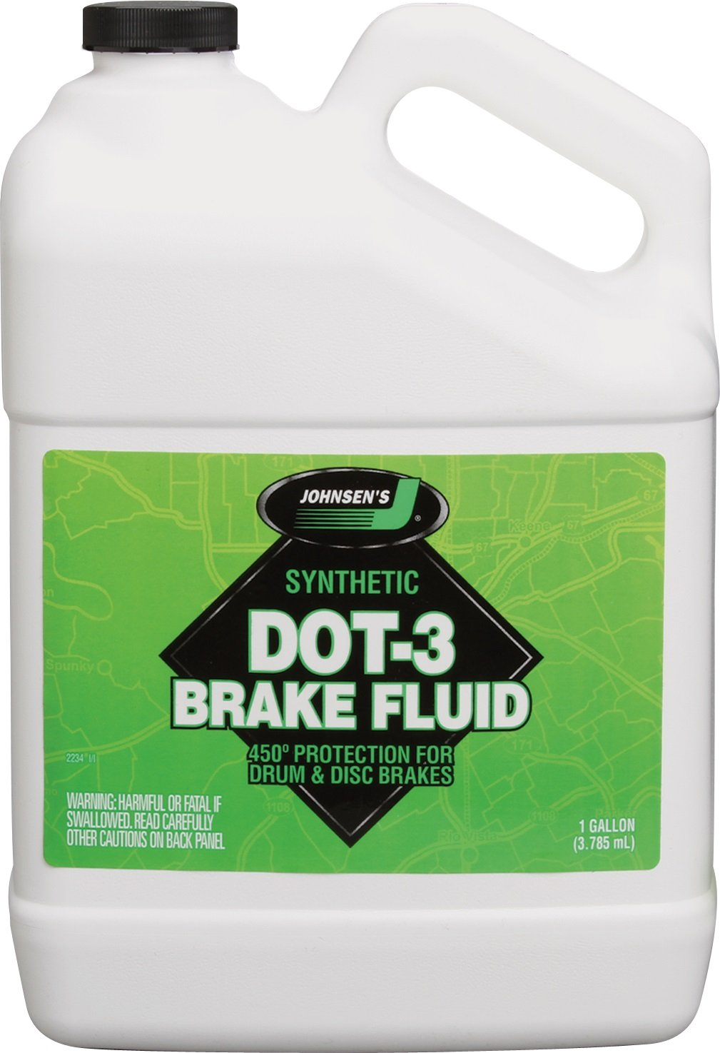 Johnsen's 2234-4PK Premium DOT-3 Brake Fluid - 1 Gallon, (Pack of 4) by Johnsen's
