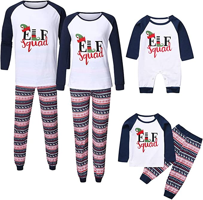 Baby Boys Girls Xmas Christmas Pyjamas Santa Squad Elf Squad Pj/'s New