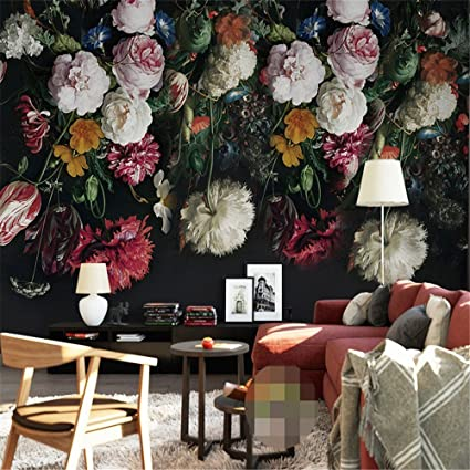 Zyyaky Wallpaper Any Size 3d Mural Wallpaper Retro Hand Painted