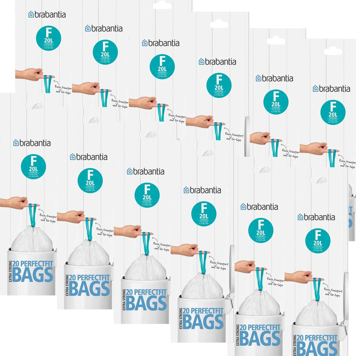 Brabantia 245305 bolsas de basura 20L Slim Line, código F ...