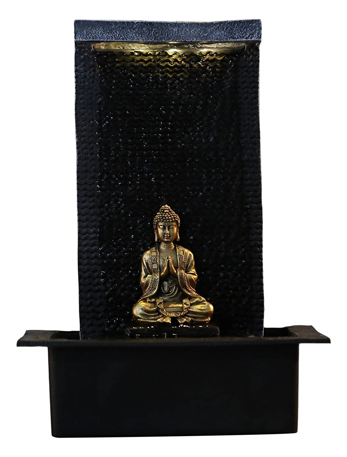 Zen Light ZENITUDE Fontana in poliresina, Dimensioni: 31 x 31 x 42 cm, Colore: Nero Zen' Light