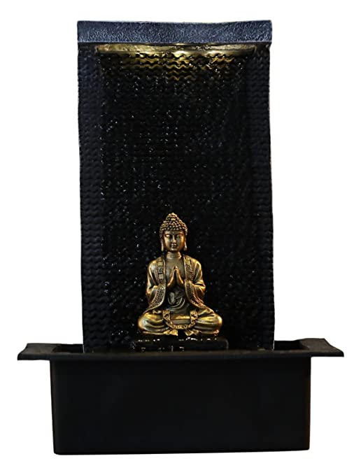 Zen'Light Zenitude Fuente de poliresina Negra 31x 31x 42cm