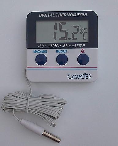 Digital para el frigorífico o congelador termómetro con alarma y ...