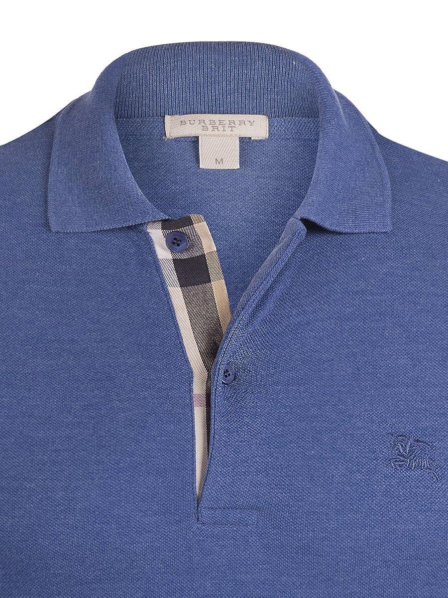 Burberry - Polo - para Hombre Bright Steel Blue S: Amazon.es: Ropa ...