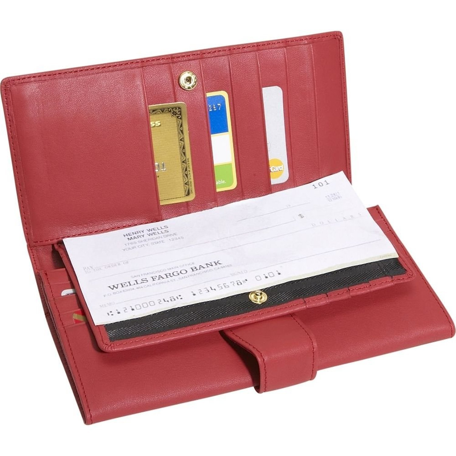 royce leather women u0027s credit clutch leather red at amazon